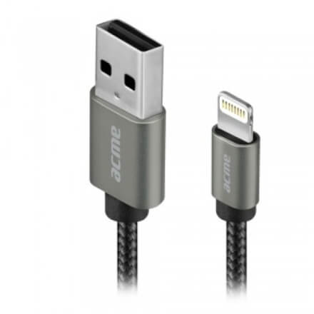 ACME CB2031G Lightning cable, 1m Grey