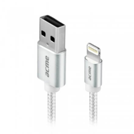 ACME CB2031S Lightning cable, 1m Silver