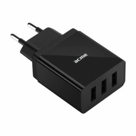 ACME CH206 wall charger AC100-240 V 3,4 A , 3 USB