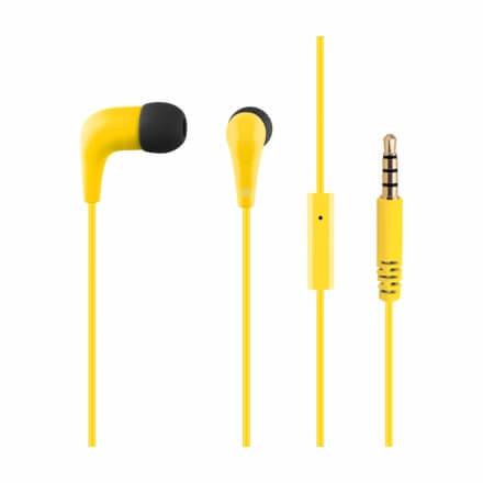 ACME HE15Y Groovy in-ear headphones with mic