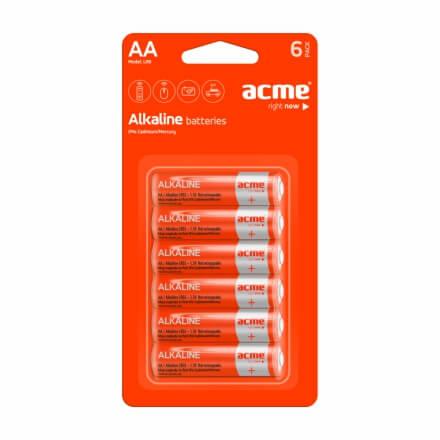 ACME LR6 Alkaline Batteries AA 6pcs